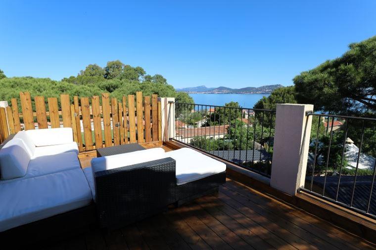 Clair De Lune: appartement uitzicht op zee  - terras