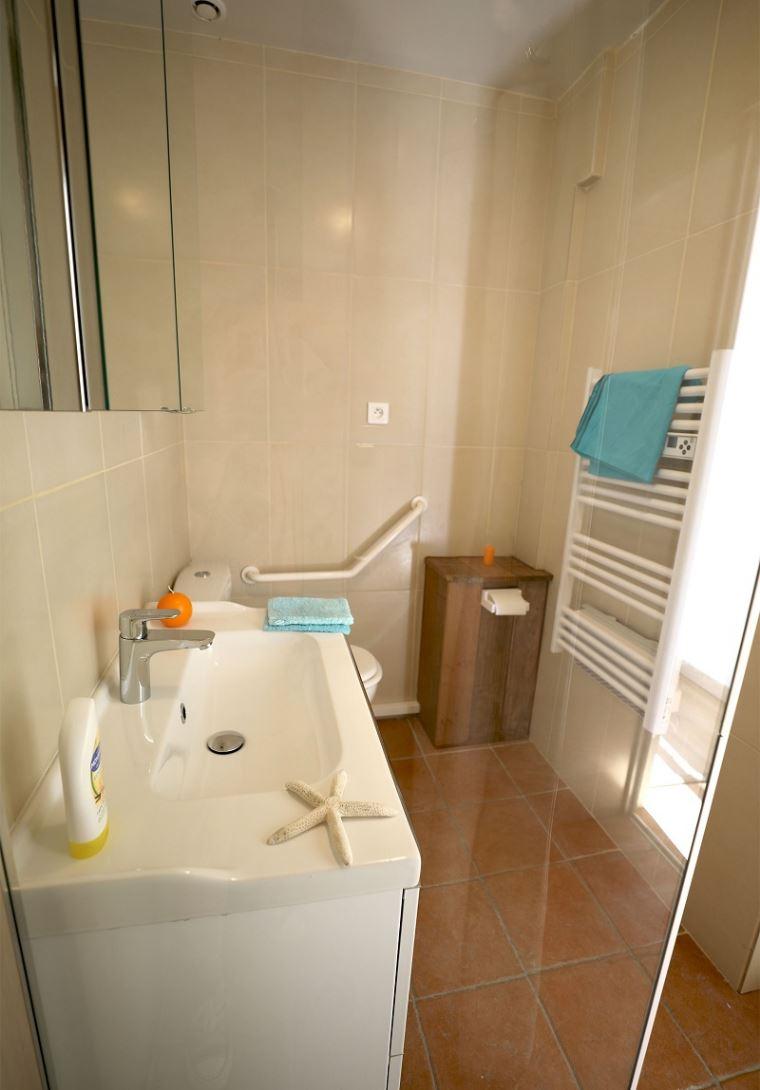 Clair De Lune: appartement uitzicht op zee - badkamer