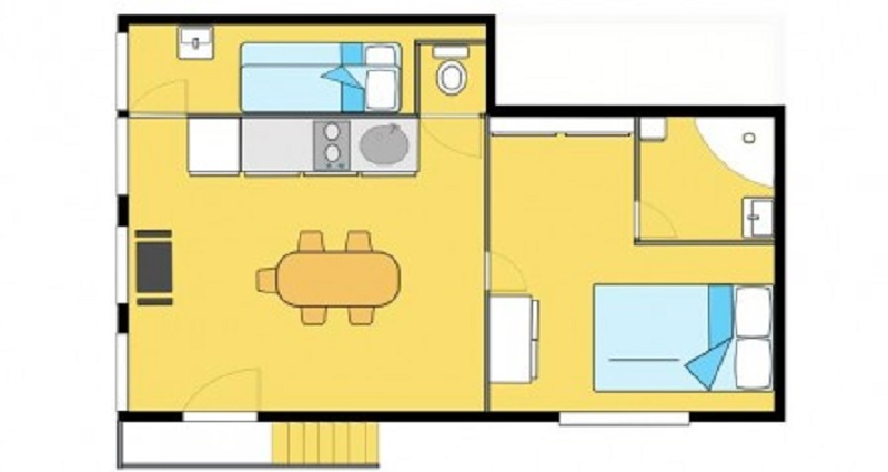 Clair de Lune: serenity apartment - floor plan