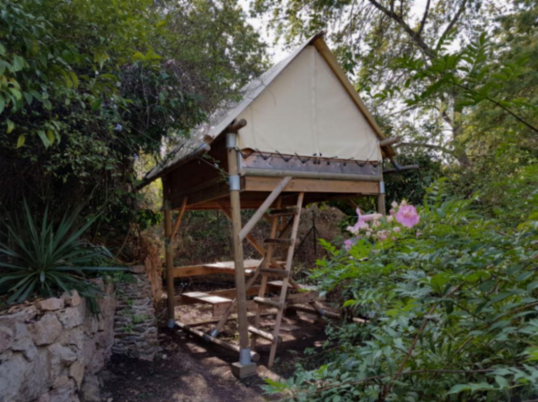 Clair de Lune: raised tent