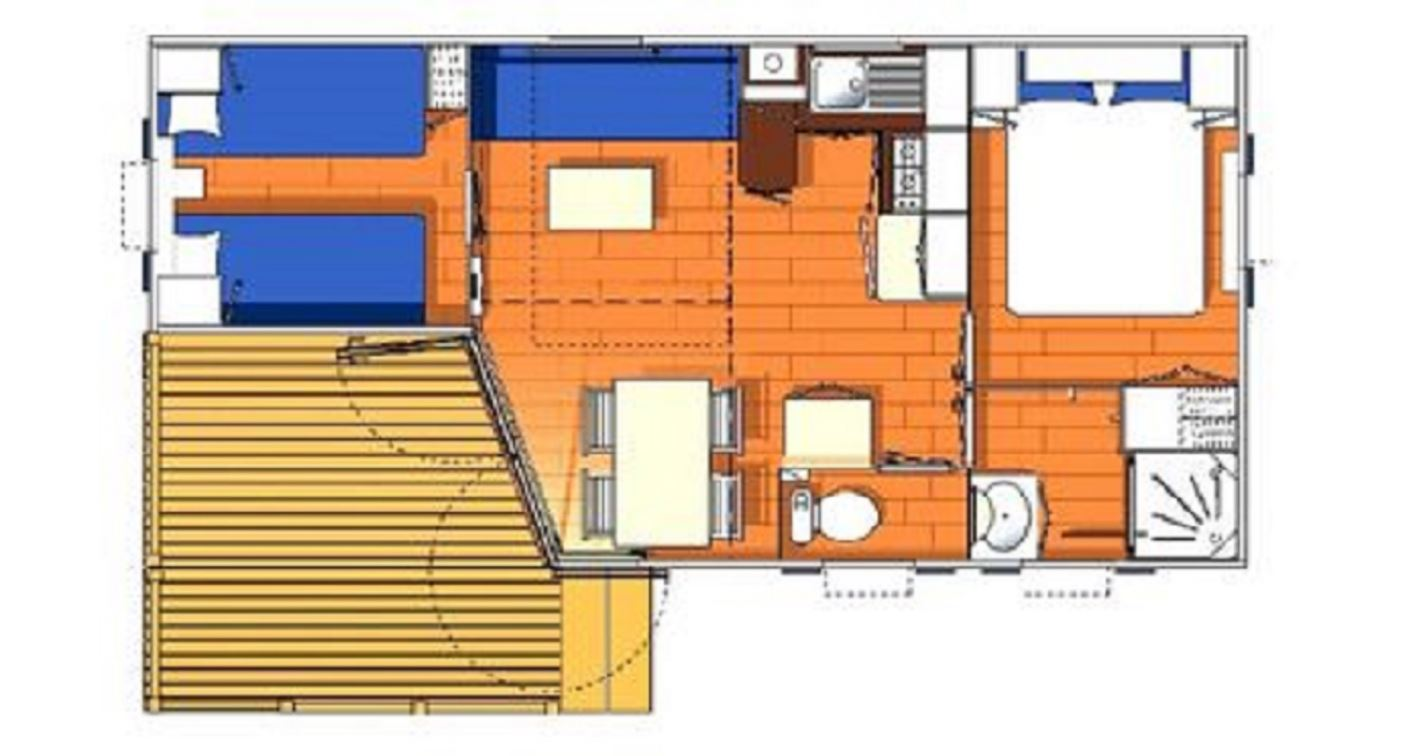Clair de Lune: azur mobile home - floor plan