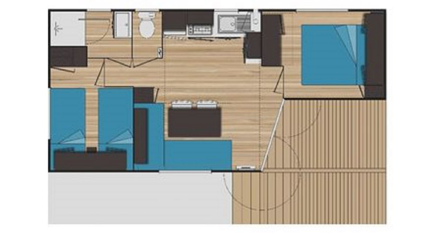 Clair de Lune: azur serenity mobile home - floor plan
