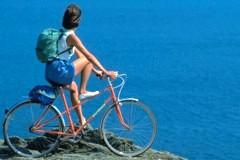 randonnée à vélo sur la corniche des Maures