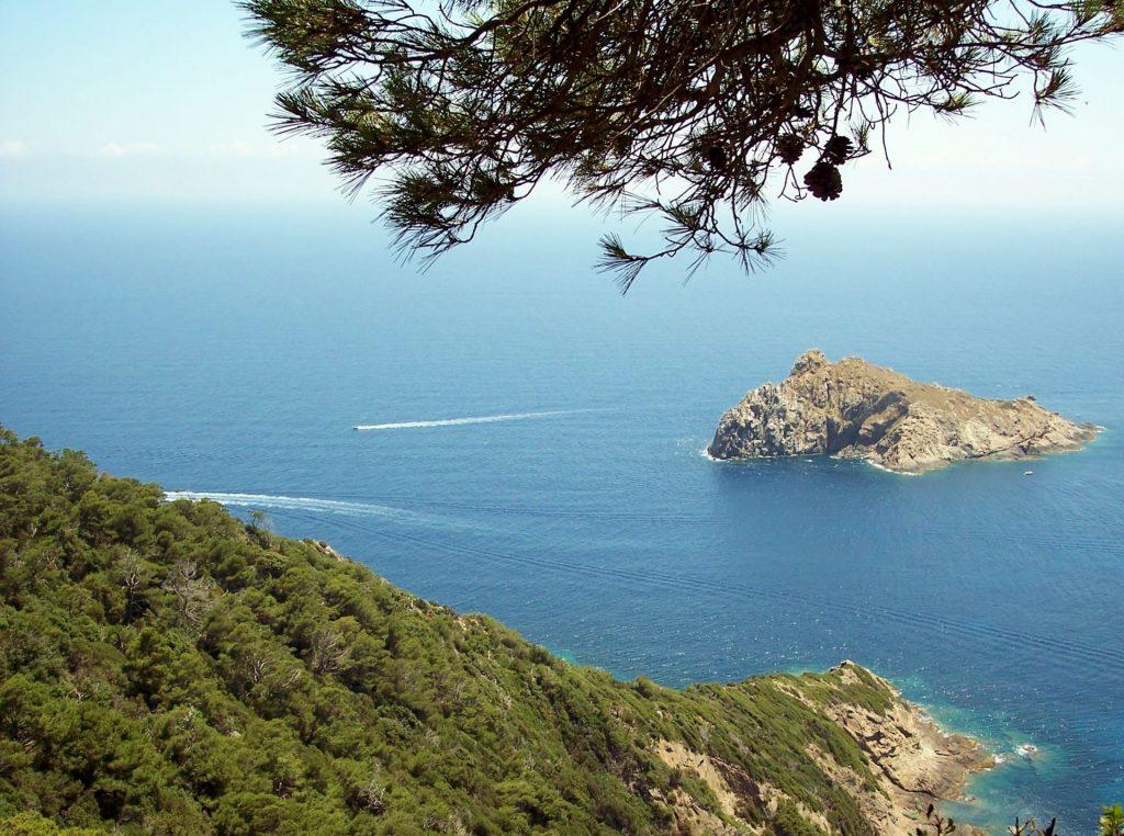 Clair De Lune : 2011 07 09. Île De Port Cros. Rocher Du Rascas Dans La Baie De La Palud